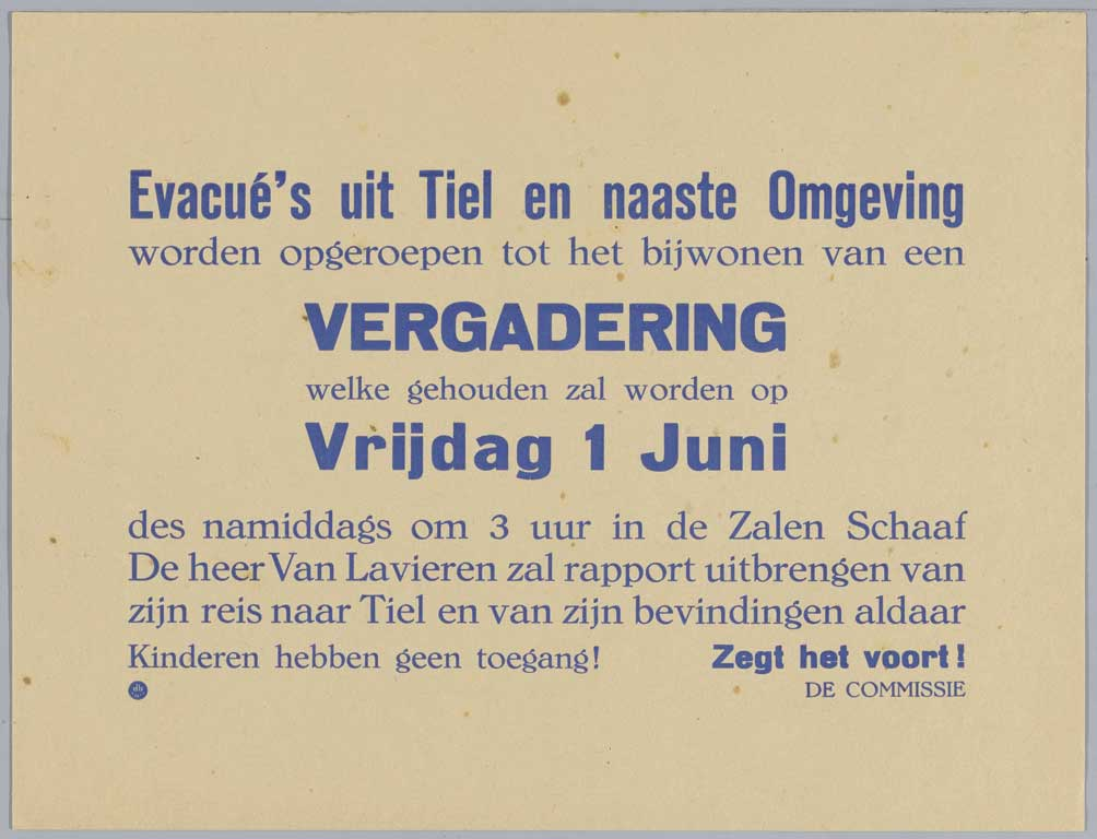 Evacuation of Tiel