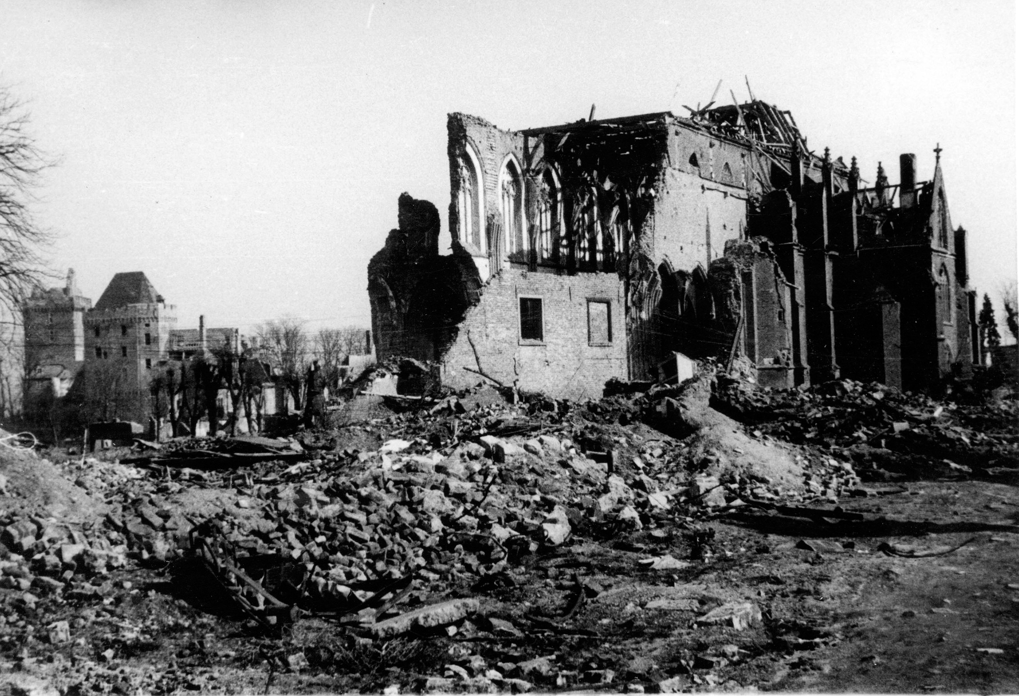 Kleve abbey church destroyed