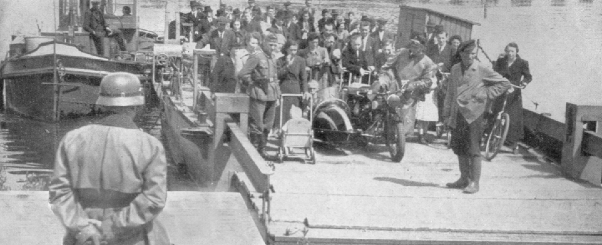 German soldiers at a similar ferry