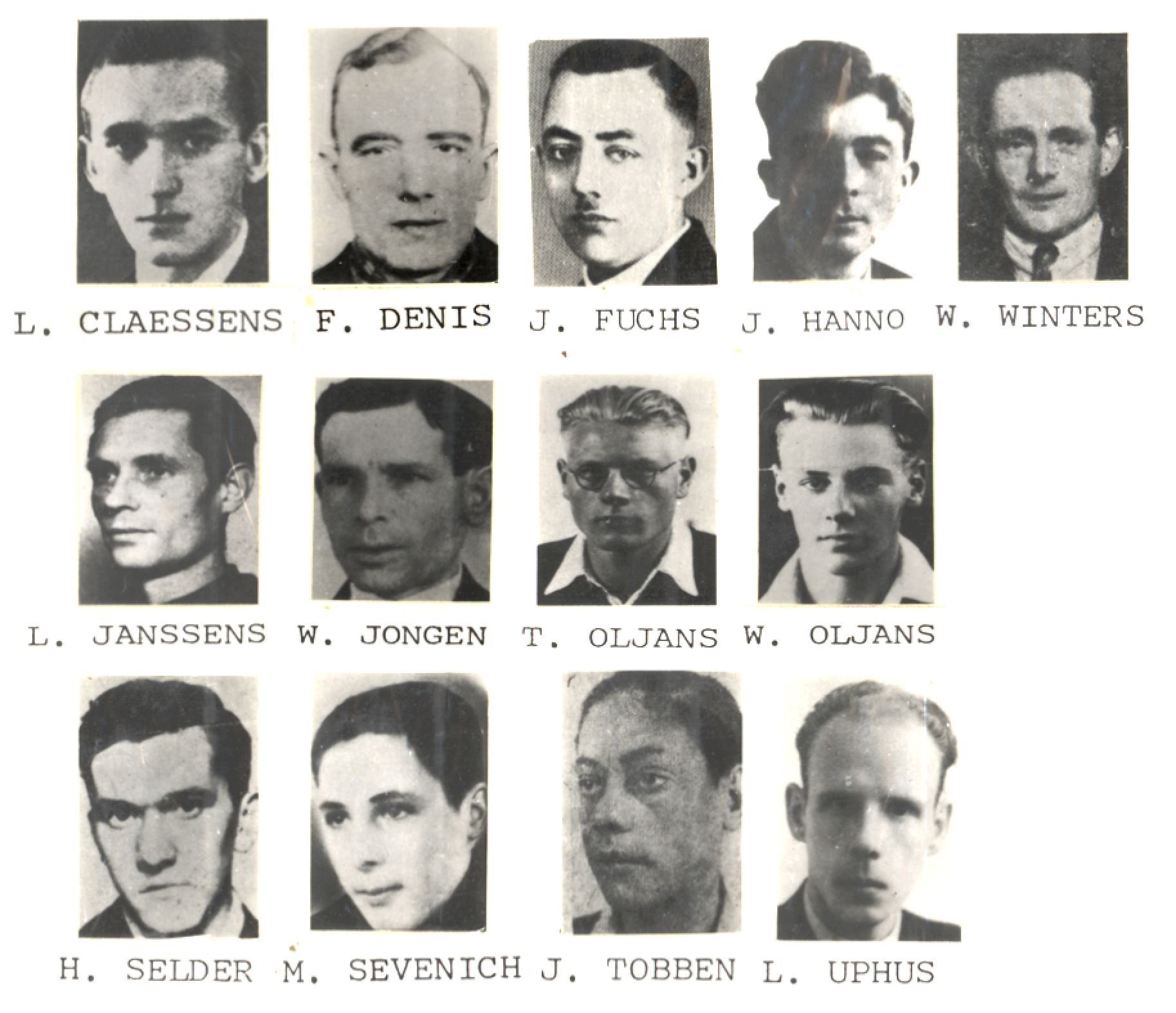 The men executed in Roermond