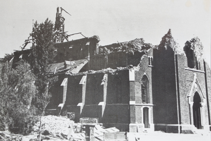Kessel Church destroyed