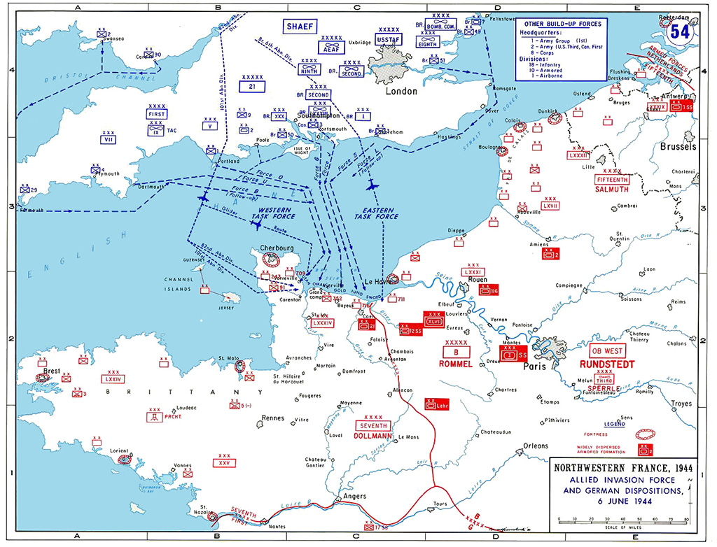 Battle plans for Normandy invasion