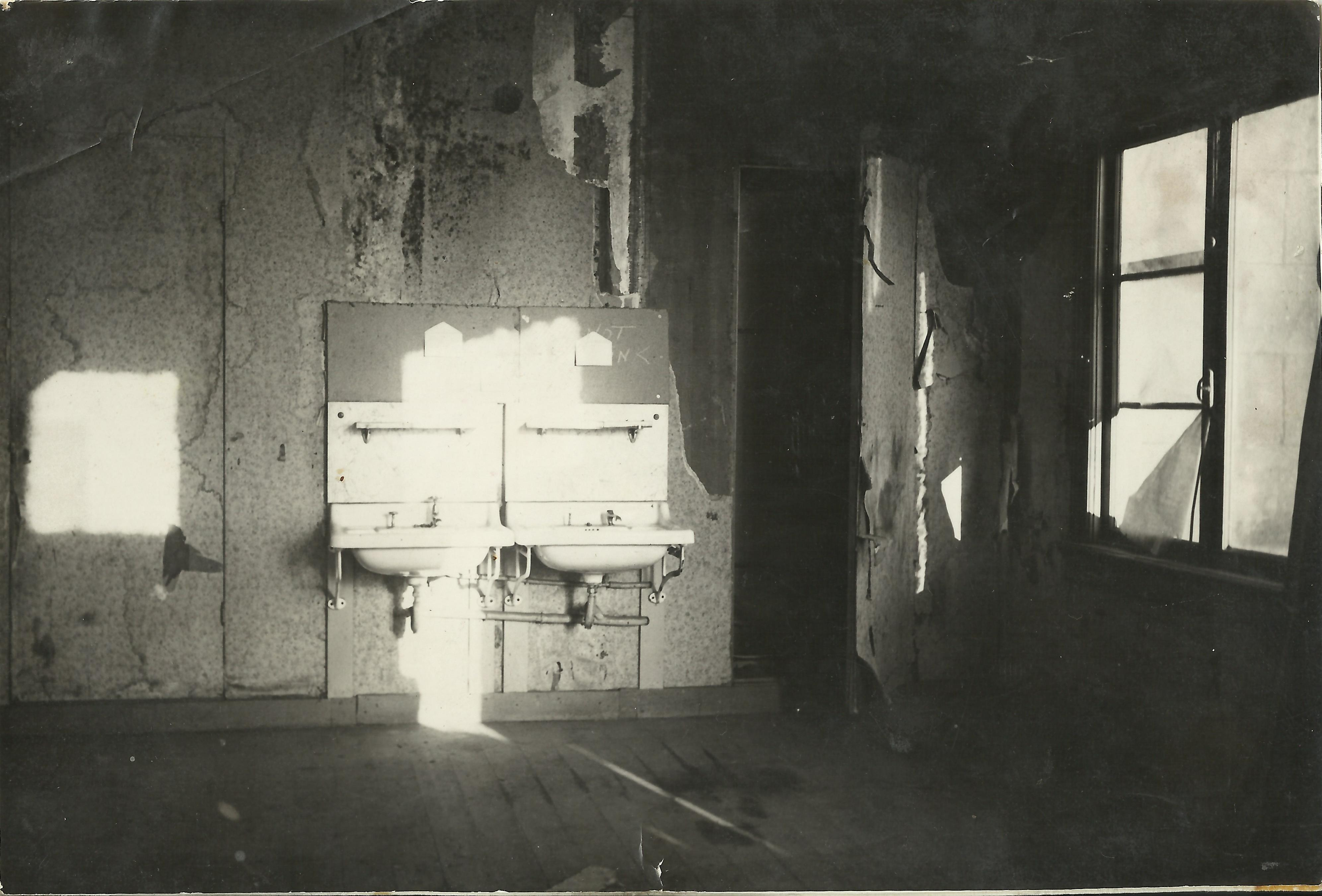 Damage in Hotel Erica after the liberation